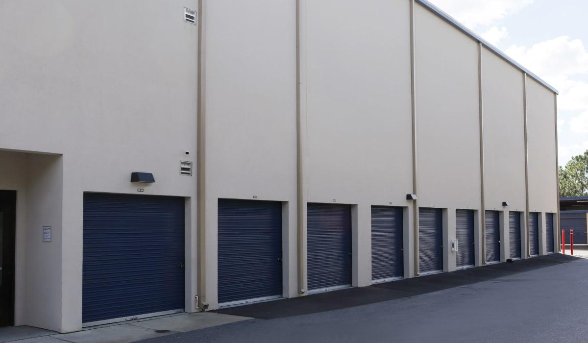 Exterior storage units at Midgard Self Storage in Bradenton, Florida