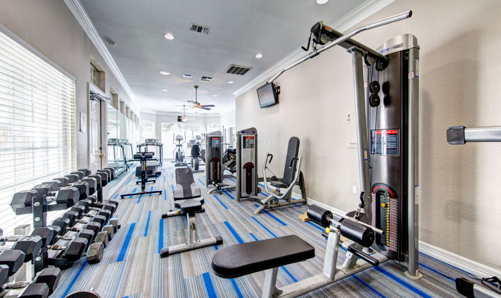 lots to do in our well equipped fitness center at Marquis at Ladera Vista