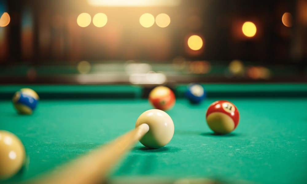 Pool table at The Venue in Rochester, New York