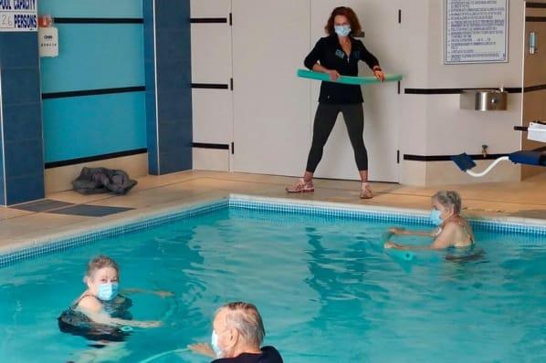 Aqua Fitness Class in the Indoor Swimming Pool