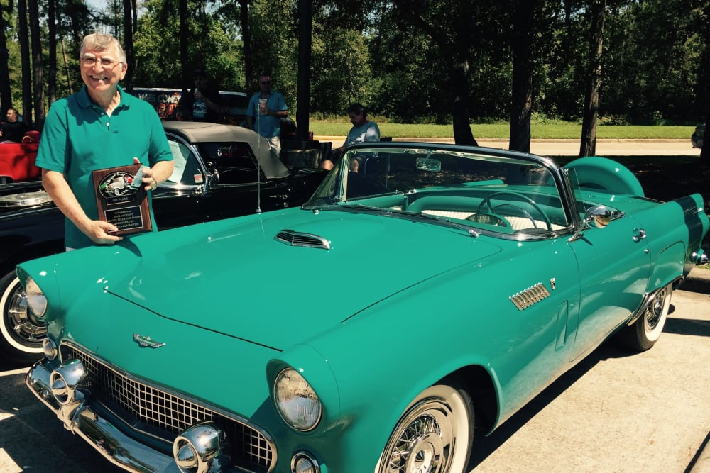 Gentleman and his vehicle at Parsons House Cypress in Cypress, Texas
