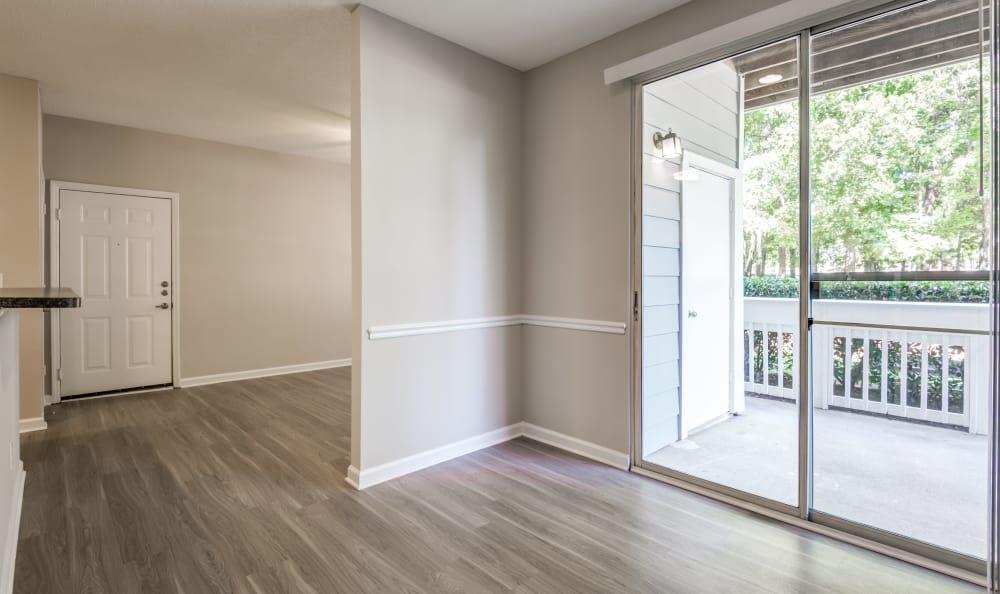 Big open floor in The Village Apartments
