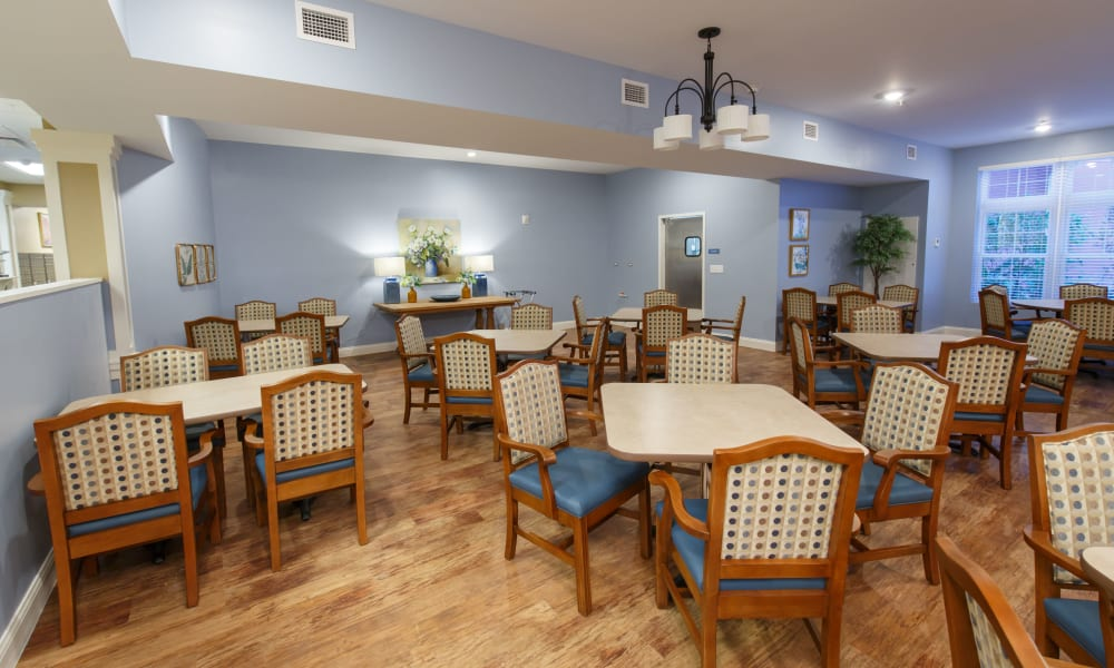 Enjoy your dinner at Keystone Place at Terra Bella's dining room in Land O' Lakes, Florida