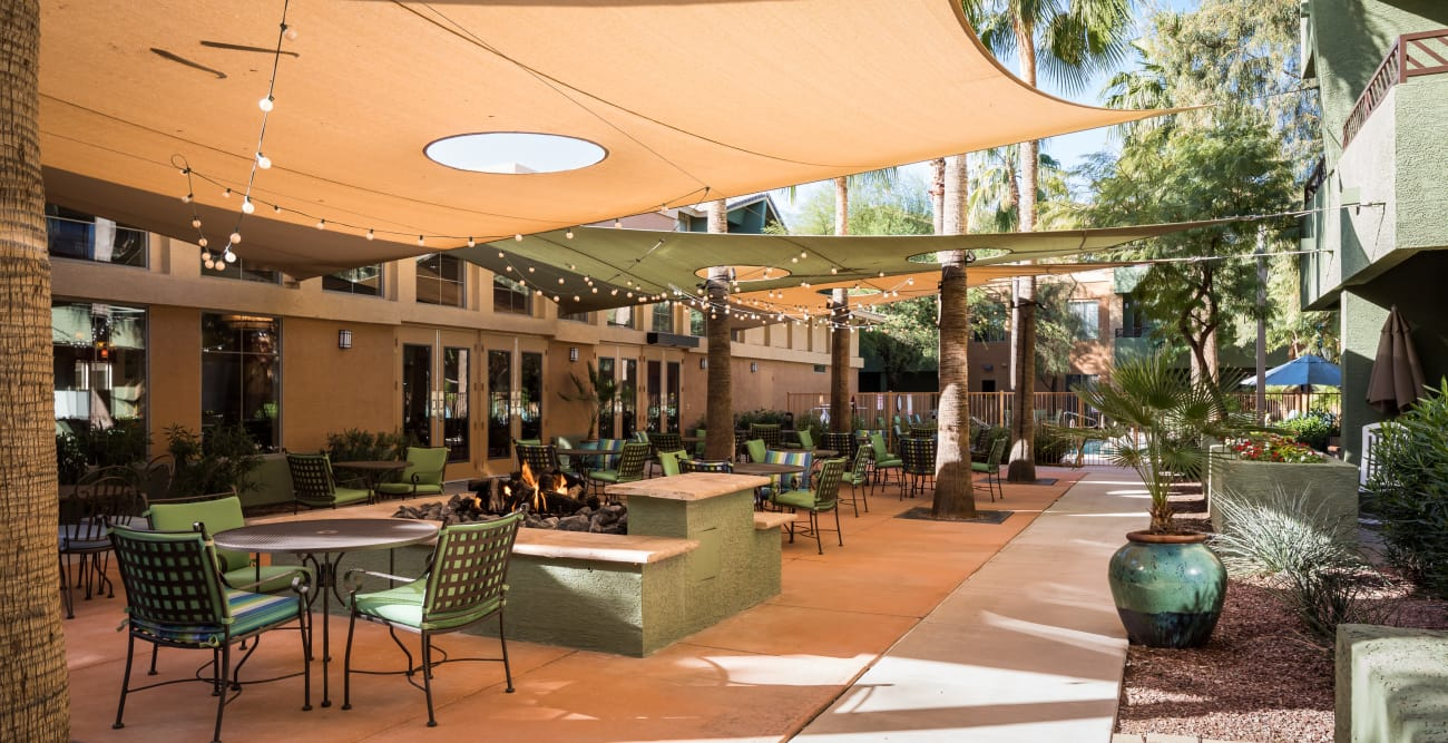 Common area at senior living community in Scottsdale, Arizona