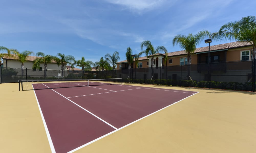 Beautifully maintained tennis courts at Hacienda Club in Jacksonville, Florida