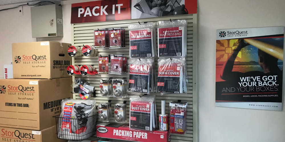 Packing supplies available at StorQuest Self Storage in Loma Linda, California