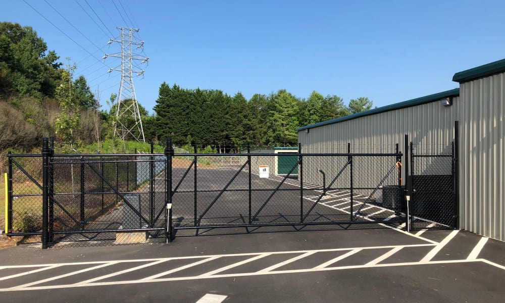 Entrance gate at AAA Self Storage in Greensboro, NC