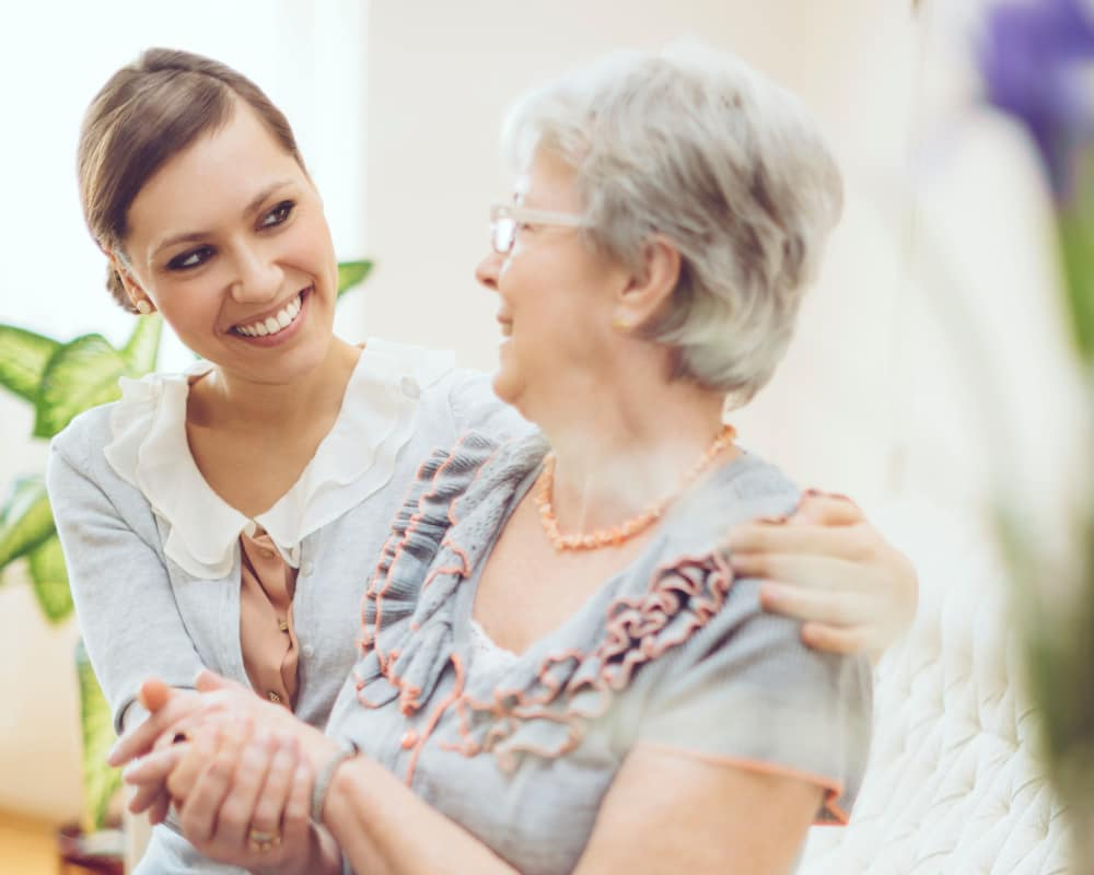 Senior with Nurse at The Creekside in Woodinville, Washington