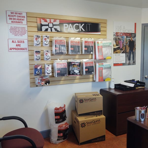 Packing supplies available at StorQuest Express - Self Service Storage in Mesa, Arizona