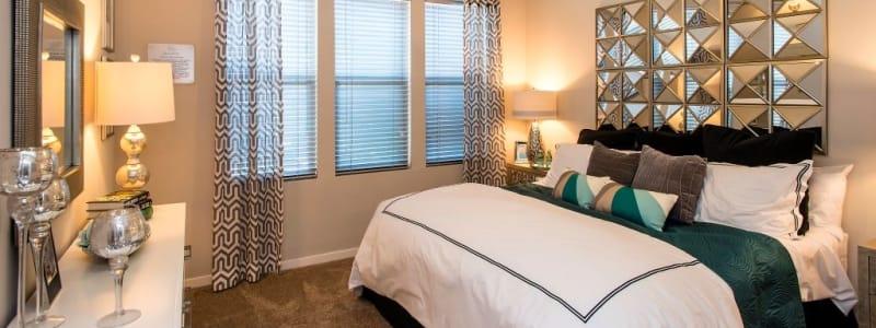 Spacious master bedroom at Luxe Scottsdale Apartments in Scottsdale, Arizona