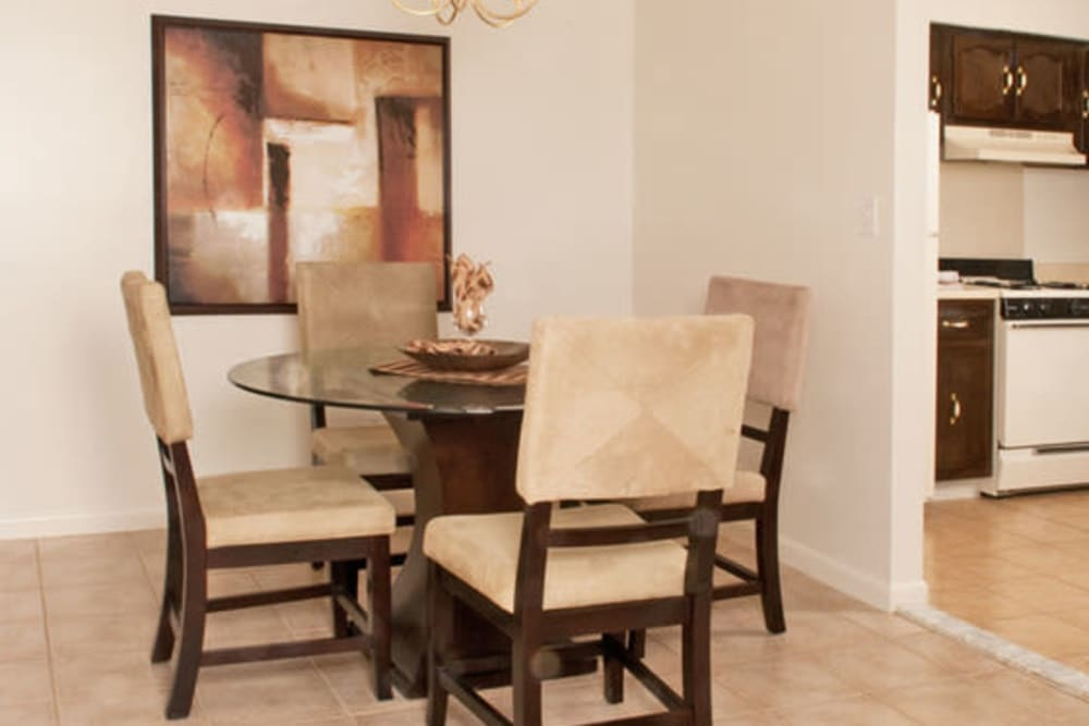 Spacious dining room at Chadwick Village Apartments in Lindenwold, New Jersey