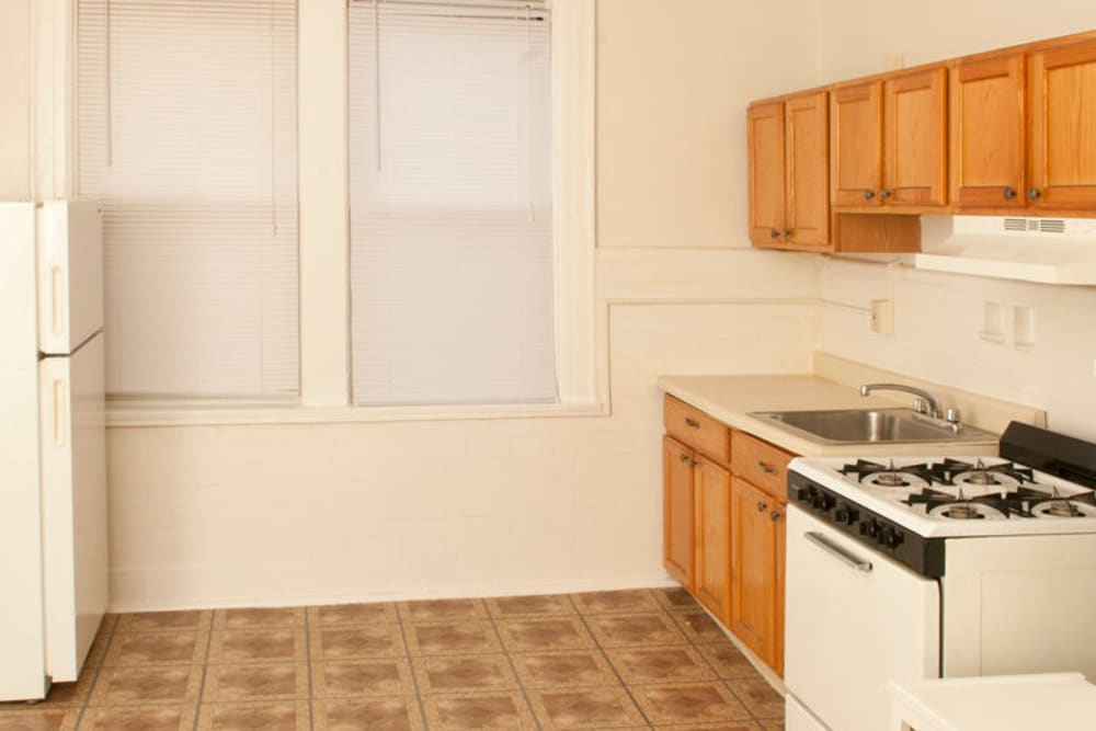 Kitchen at Murray Apartments in Paterson, New Jersey