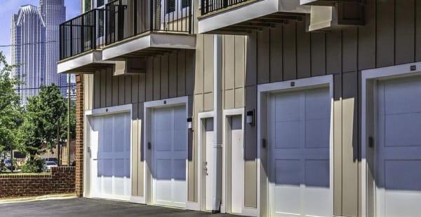 Private garages at 300 Optimist Park in Charlotte, North Carolina