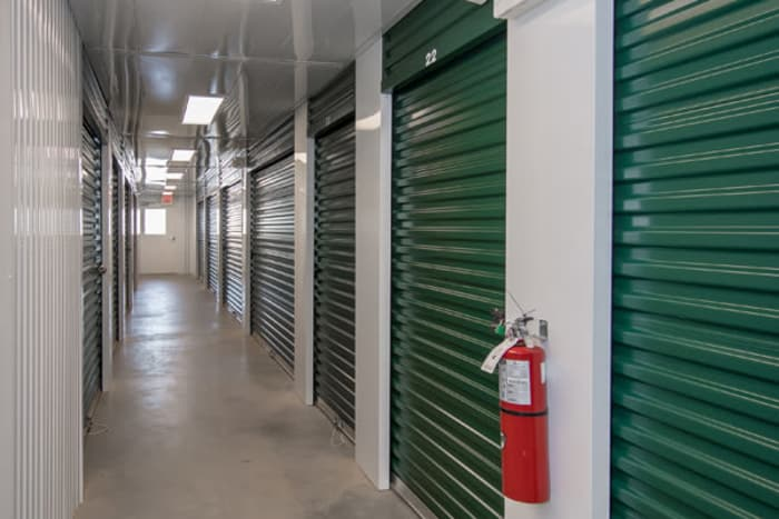 Indoor storage units with roll up doors at Space Shop Self Storage in Greenville, South Carolina