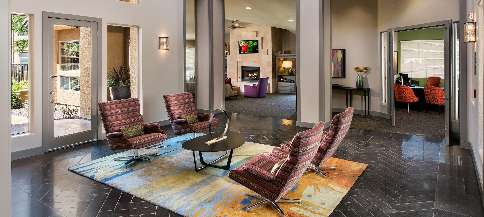 Lobby interior at Bellagio in Scottsdale, Arizona