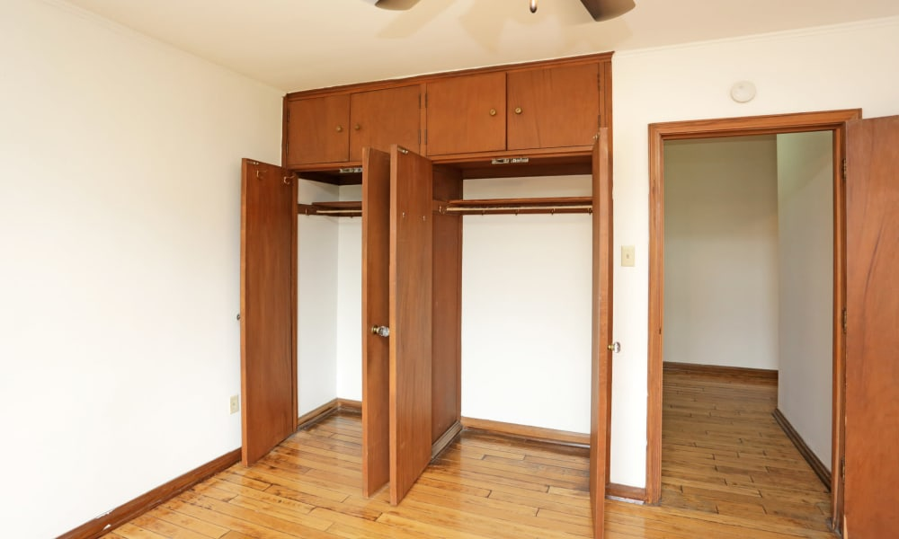 Large closet space in Des Moines, Iowa at Windsor Terrace