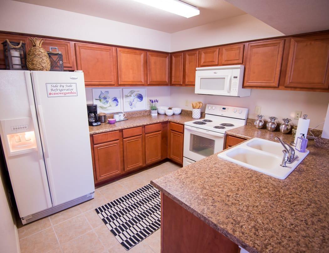 Kitchen at Villas at Aspen Park in Broken Arrow, Oklahoma