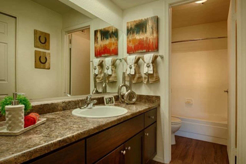 Enjoy large bathrooms at Casa Santa Fe Apartments in Scottsdale, Arizona
