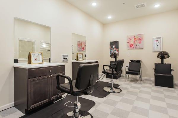On-site hair salon at The Mansions at Alpharetta in Alpharetta, Georgia