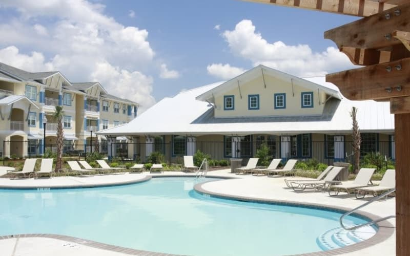 Lakeside Apartment Homes offers a sparkling swimming pool in Slidell, Louisiana