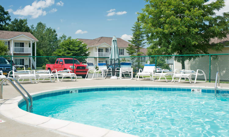 Swimming Pool at Forrest Pointe Apartments and Townhomes in East Greenbush