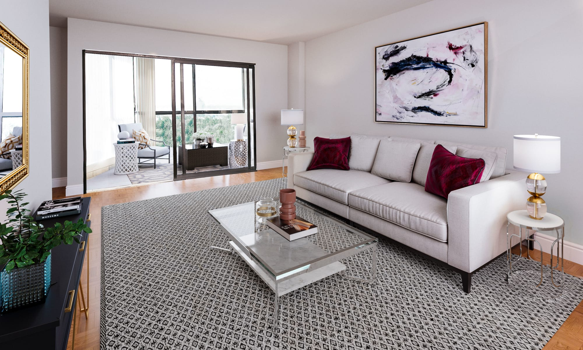 8 Silver Maple Court offers a renovated living room in Brampton, ON