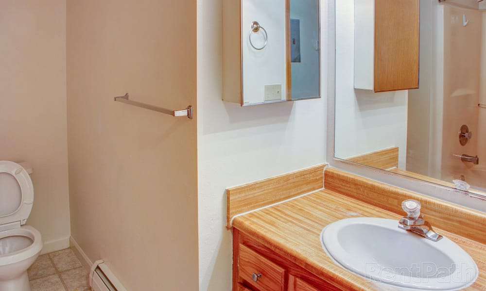 Our apartments in Bozeman, Montana offer a bathroom