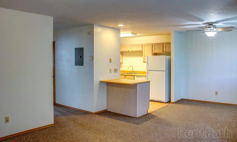 Our apartments in Bozeman, Montana showcase a spacious diningroom