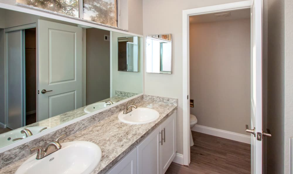 Modern bathroom at IMT Pinebrook Pointe in Margate, Florida