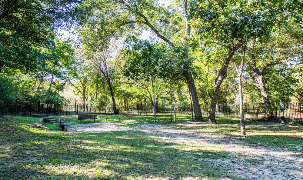 Dog park at Marquis at Silver Oaks