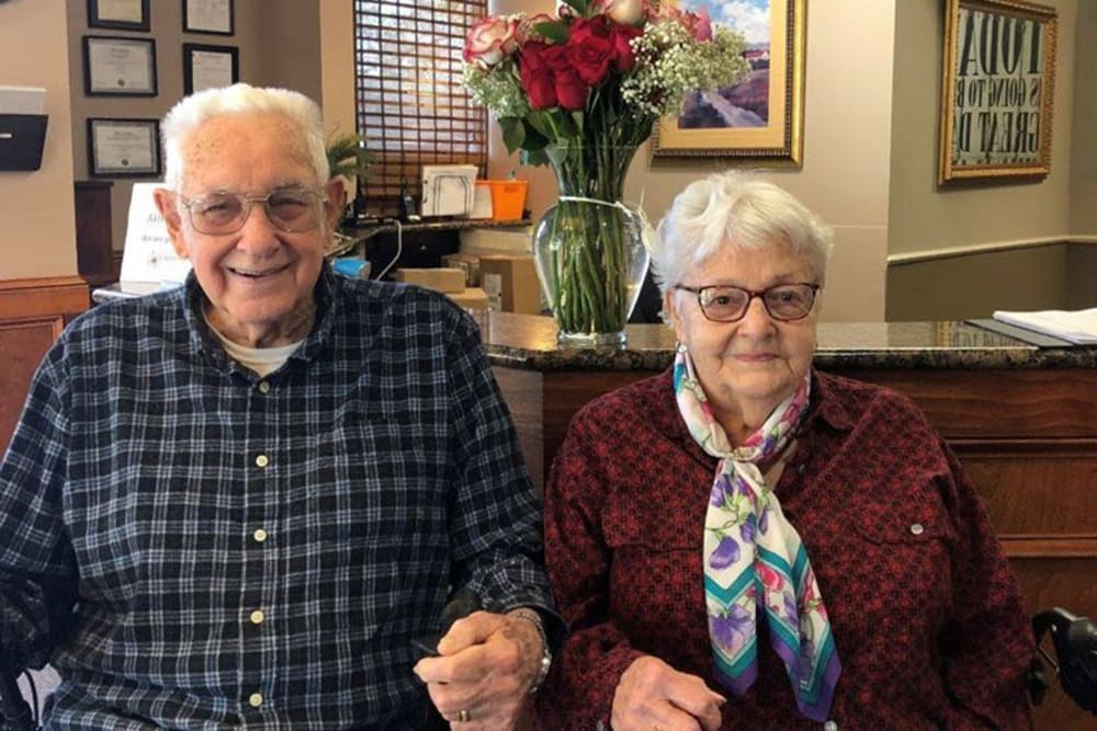 A happy couple at Spring Haven in Winter Haven, Florida