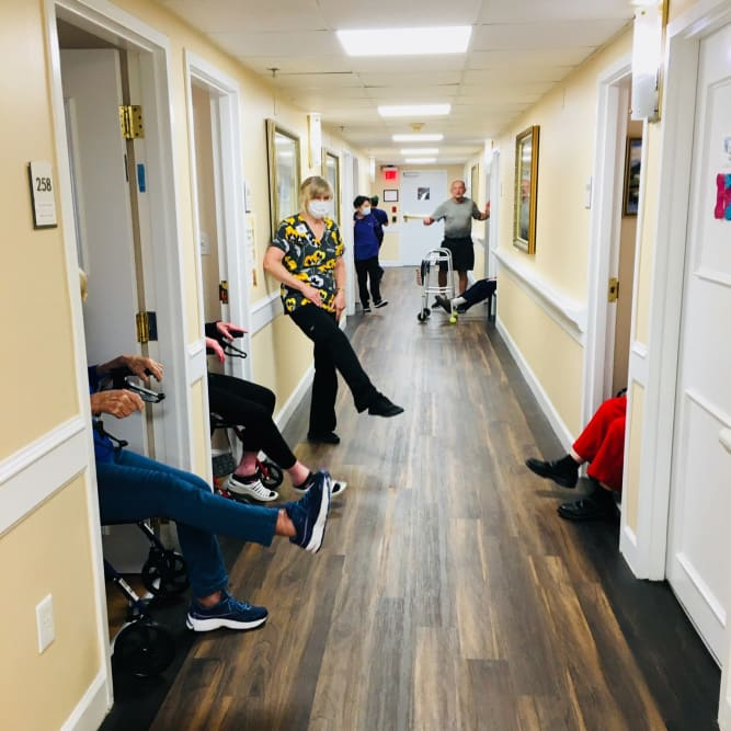 Social distancing at Grand Villa of Altamonte Springs in Altamonte Springs, Florida