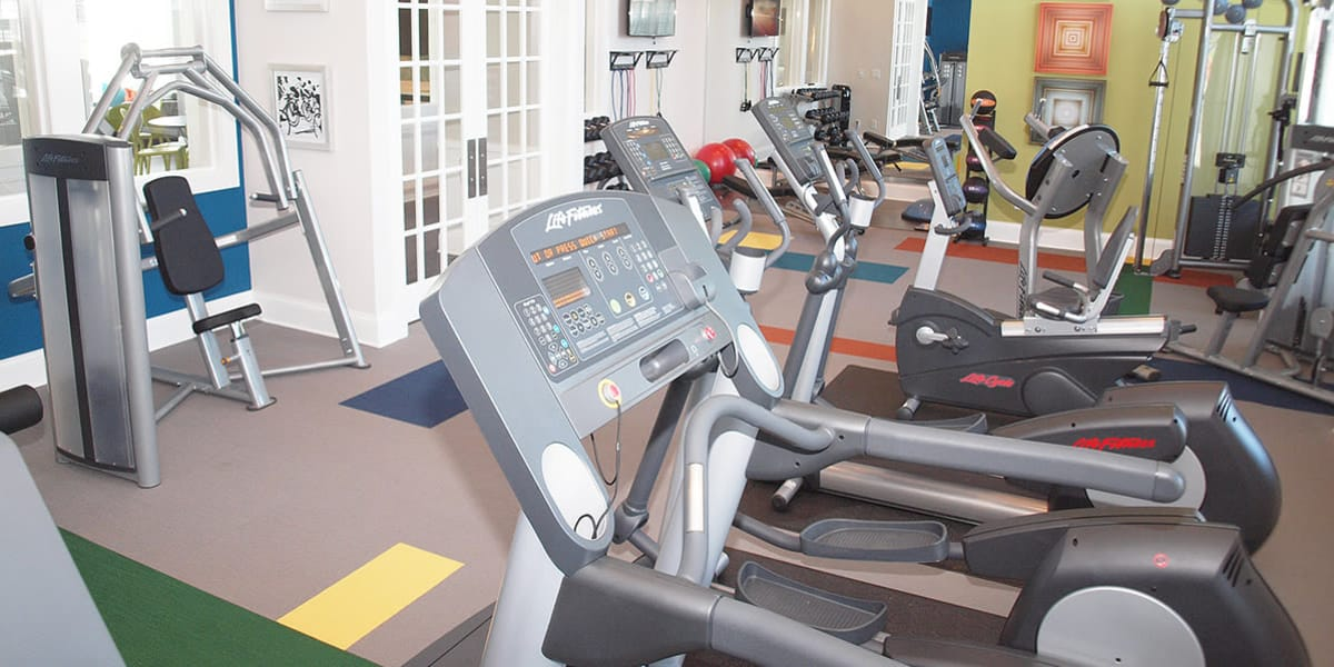 Resident fitness center at Greyson on 27 in Nicholasville, Kentucky