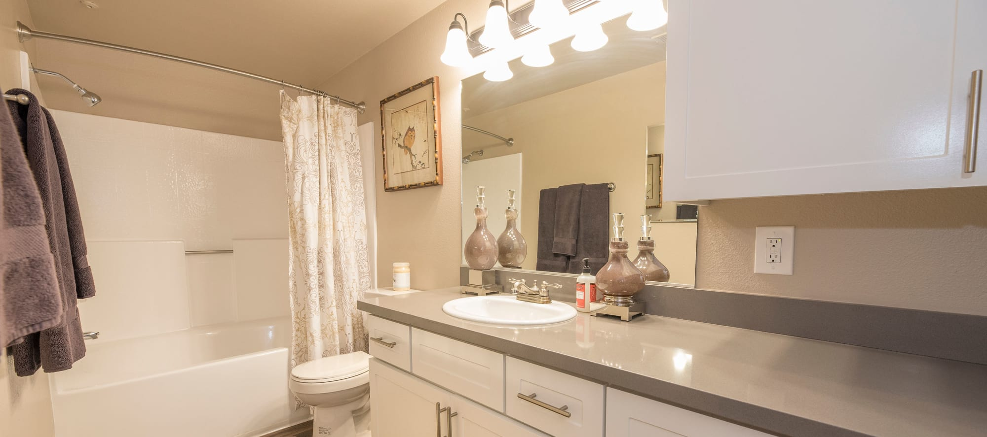 Updated bathrooms at Paloma Summit Condos