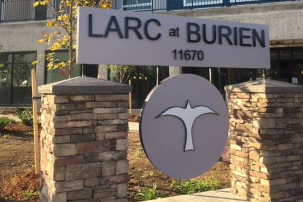 Sign at LARC at Burien in Burien, Washington