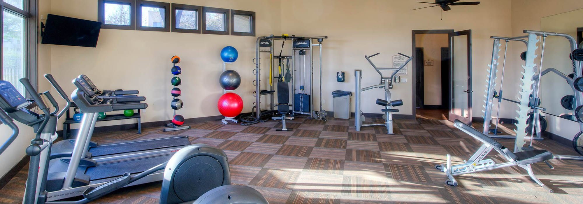 Fitness center at The Reserve at Gilbert Towne Centre in Gilbert, Arizona