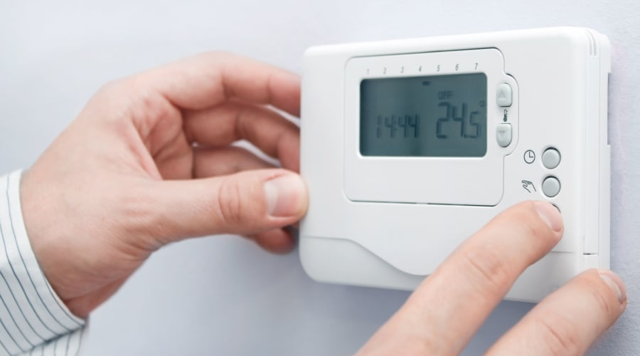 Temperature controlled thermostat at KO Storage of Cheyenne in Cheyenne, Wyoming