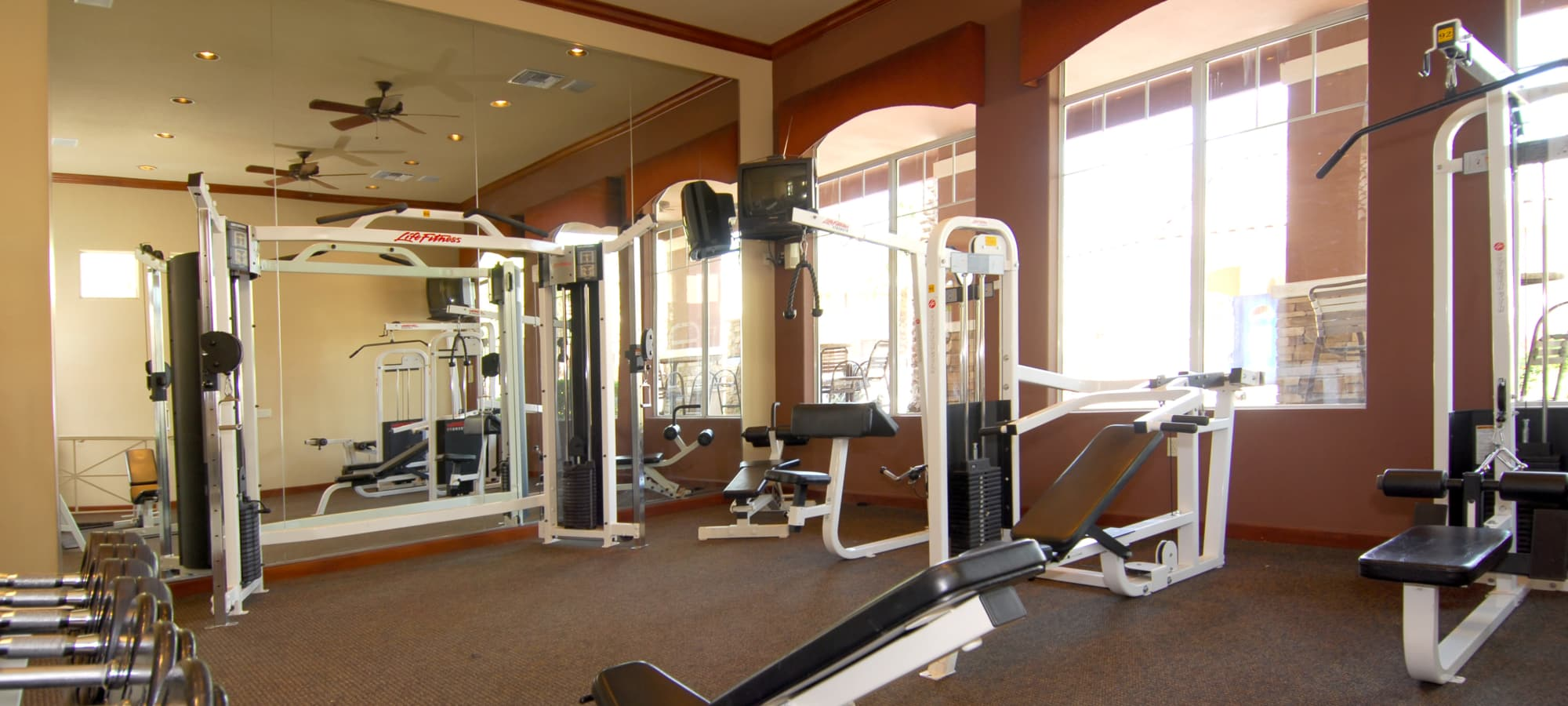 State-of-the-art fitness center with tons of equipment at Remington Ranch in Litchfield Park, Arizona