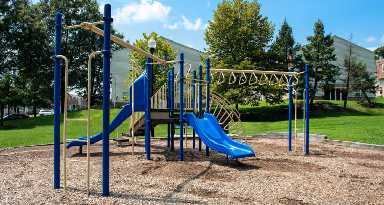 Enjoy spending time outside with family & friends at our Playground at Pleasantview Townhomes in Baltimore, Maryland