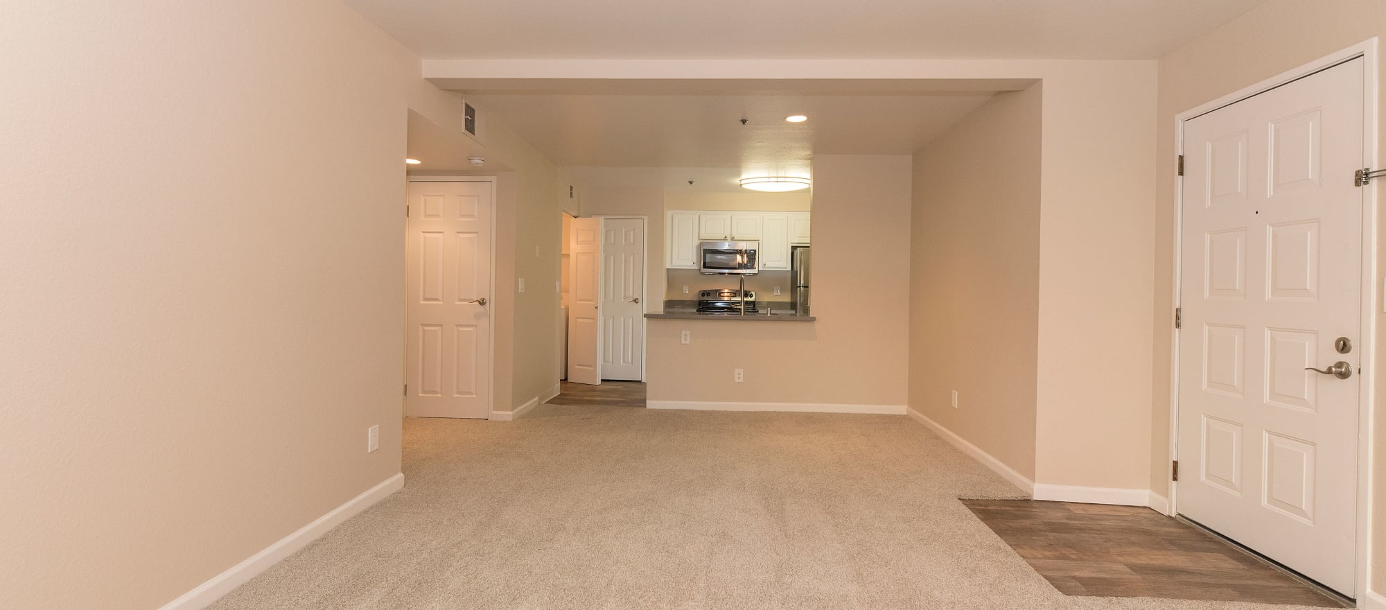 Large living room at Sterling Heights Apartment Homes in Benicia, California