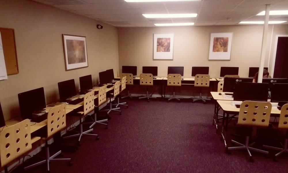 Enjoy a media center at Stewartown Homes in Gaithersburg, Maryland