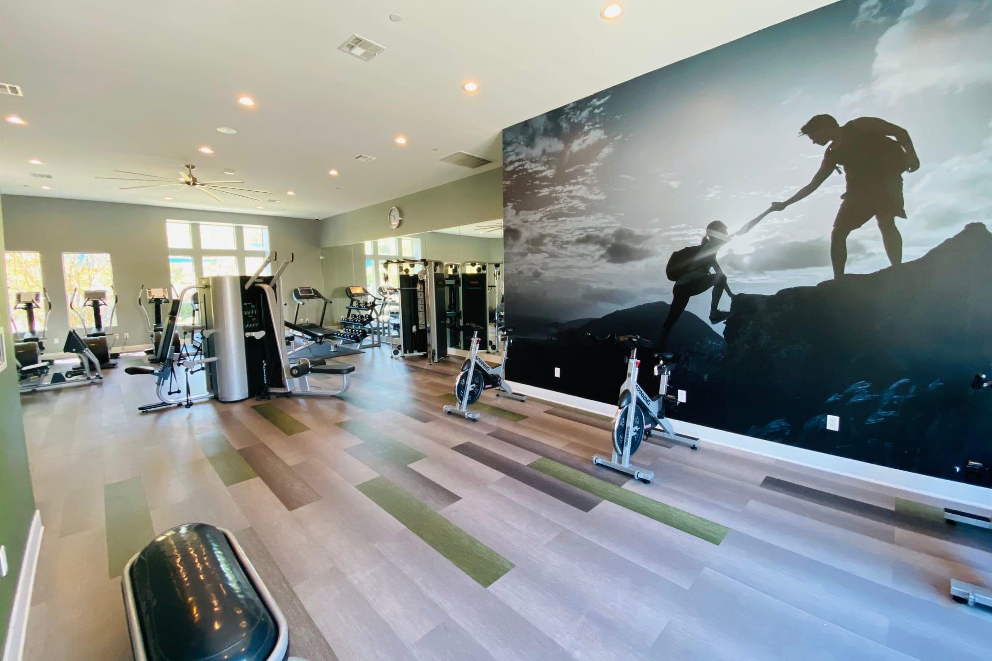 The fitness center at Palisades Sierra Del Oro in Corona, California