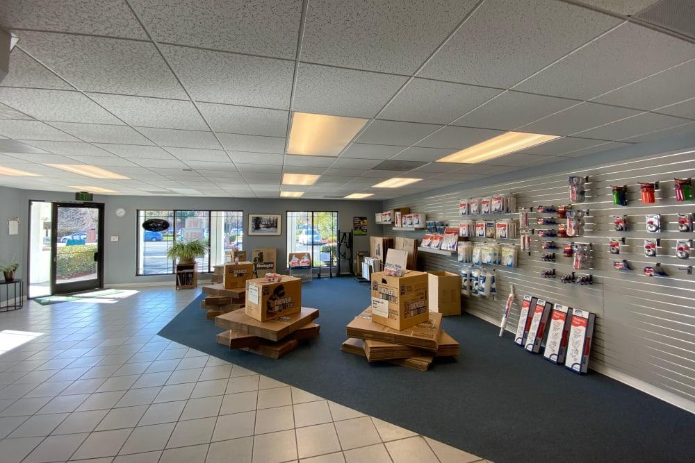 Inside the facility at Superior Self Storage in Sacramento, California