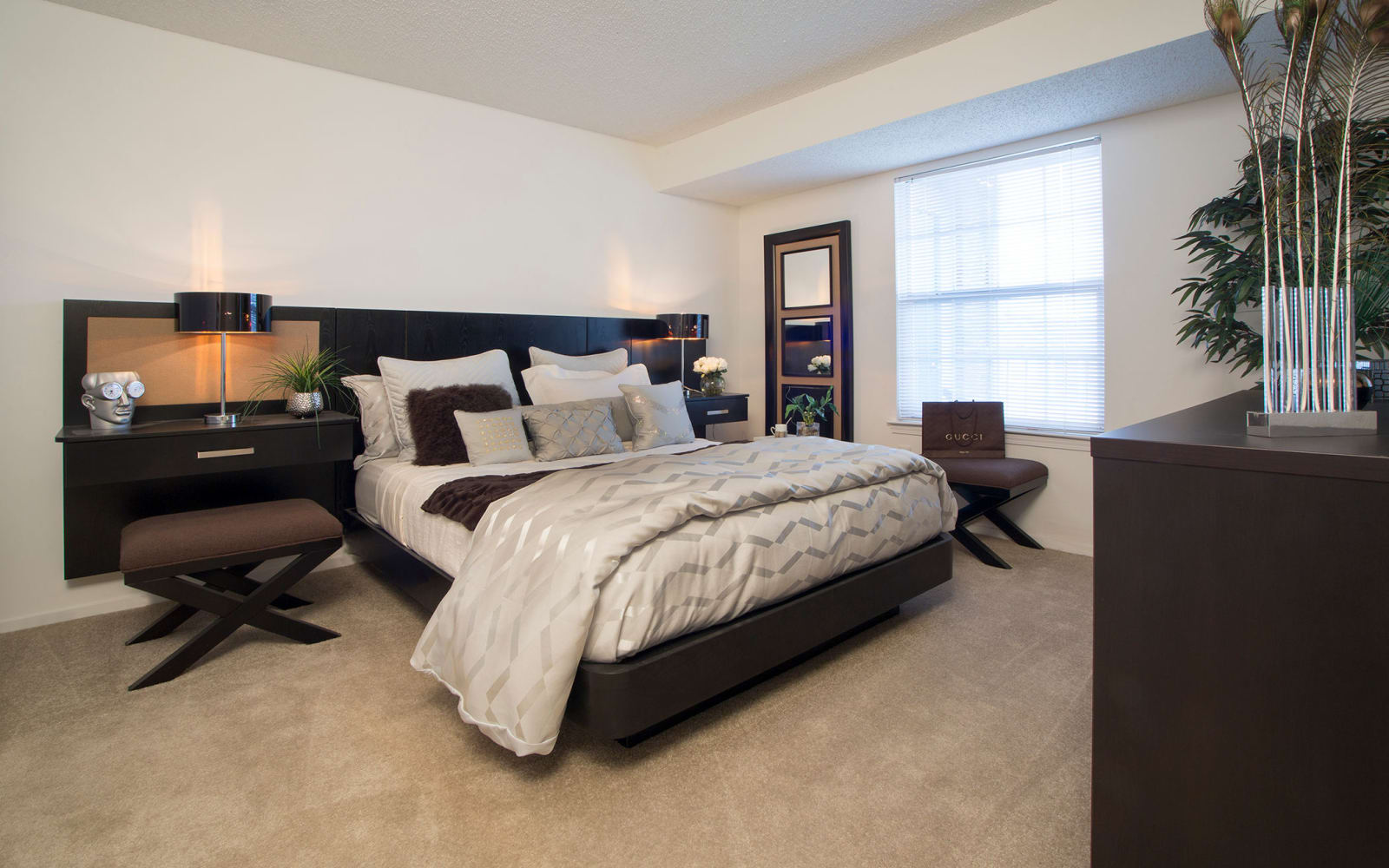 Master bedroom at Citation Club in Farmington Hills, Michigan