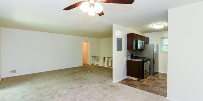Mt. Arlington Gardens Apartment Homes offers a spacious living room in Mt. Arlington, NJ