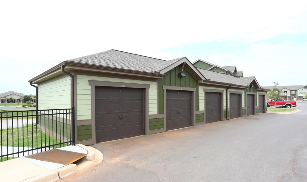 detached garages at Springs at May Lakes in Oklahoma City, OK