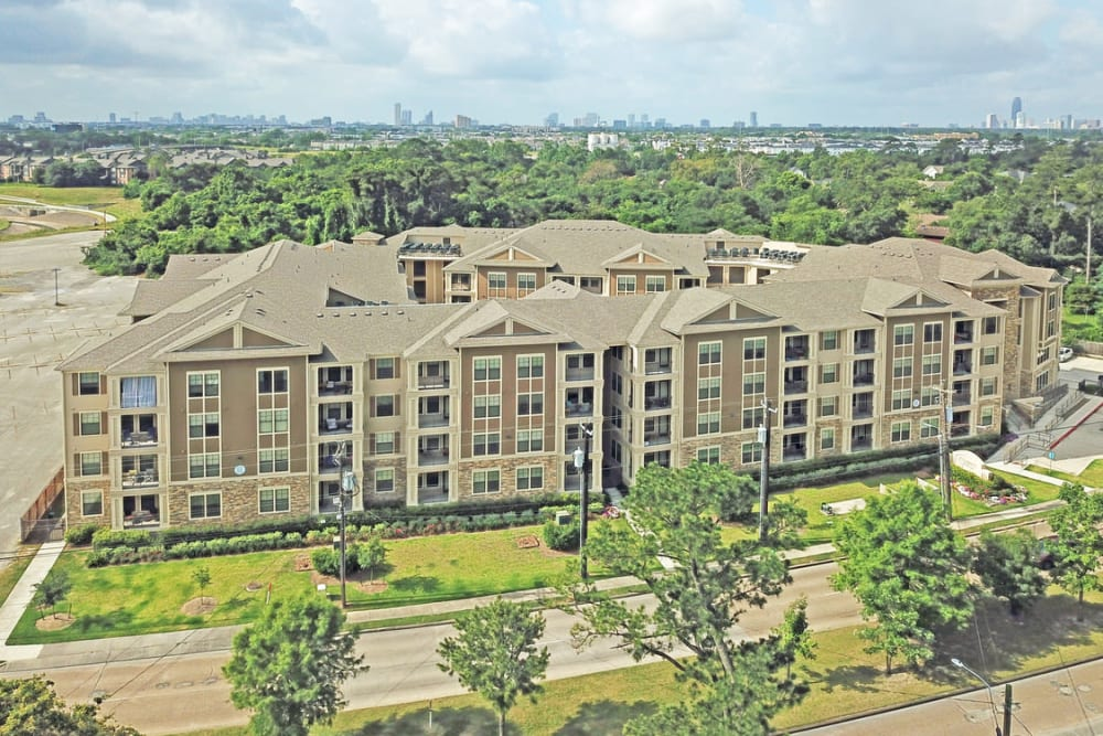 Aerial view of at Heights West 11th in Houston, Texas