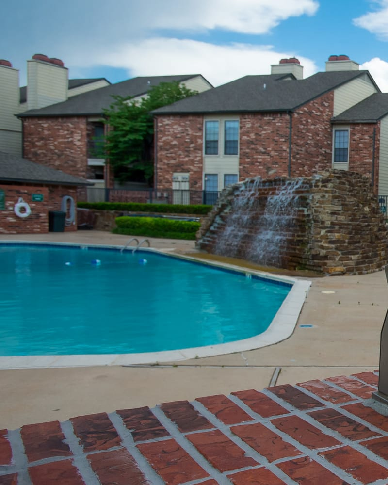Resort style pool at Warrington Apartments in Oklahoma City, Oklahoma