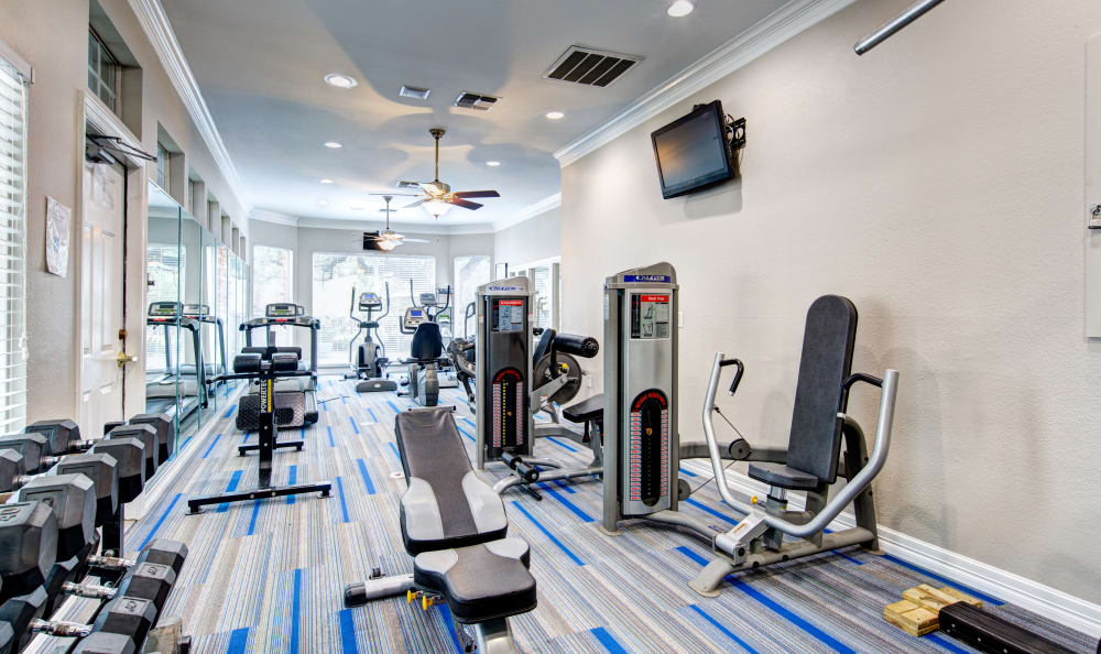 Stay healthy in our well equipped fitness center at Marquis at Ladera Vista
