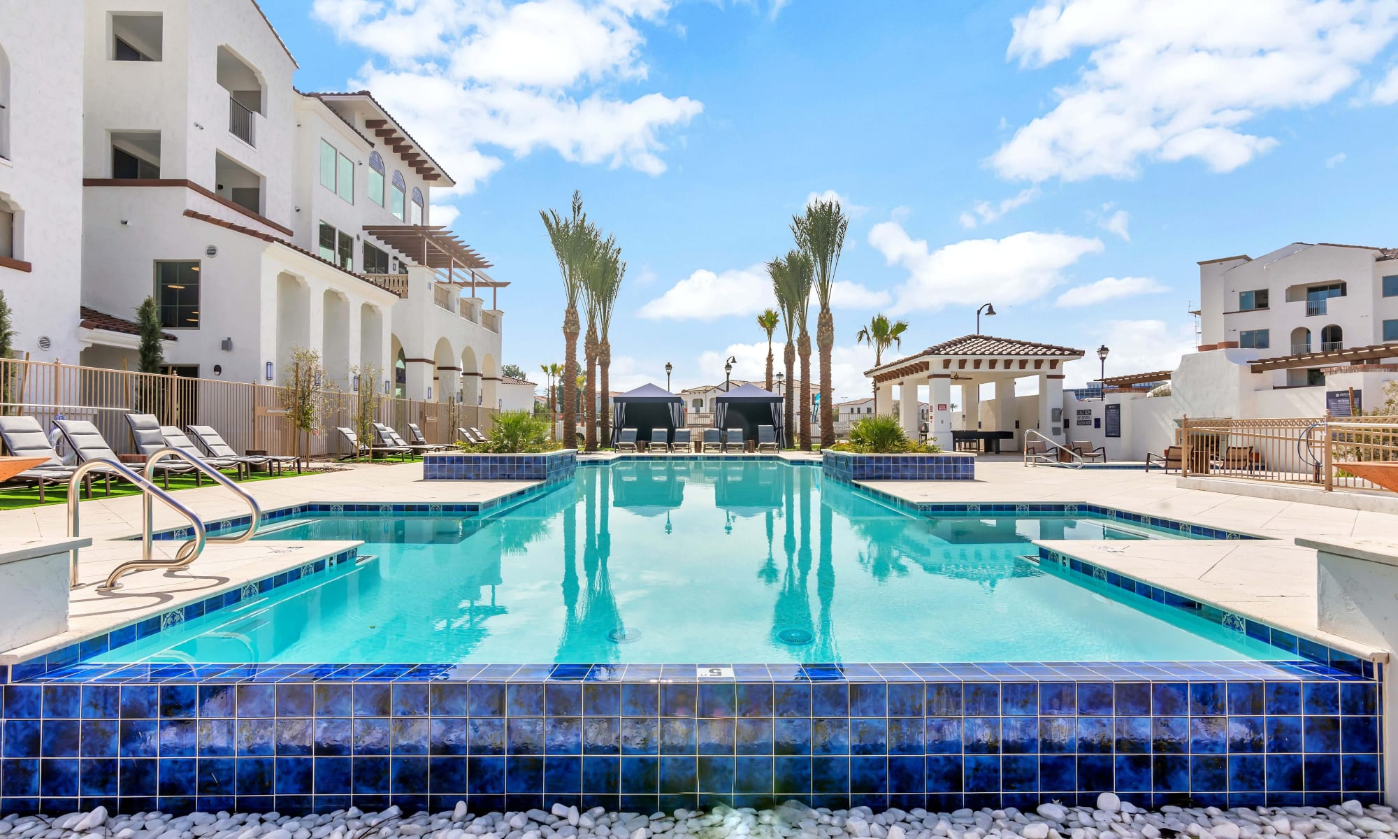Resort style pool at Arista at Ocotillo in Chandler, Arizona